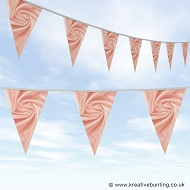 Wedding Day Bunting - Velvet Salmon Pink